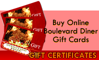 Boulevard Diner Gift Certificates